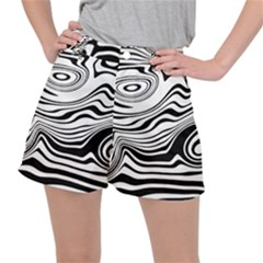 Lines Abstract Distorted Texture Ripstop Shorts