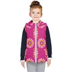 Morroco Tile Traditional Marrakech Kids  Hooded Puffer Vest