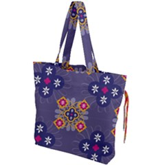 Morocco Tile Traditional Marrakech Drawstring Tote Bag