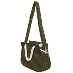 Vintage Wallpaper Vintage Rope Handles Shoulder Strap Bag