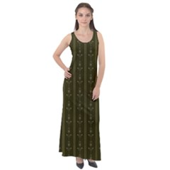 Vintage Wallpaper Vintage Sleeveless Velour Maxi Dress