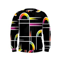 Background Abstract Semi Circles Kids  Sweatshirt
