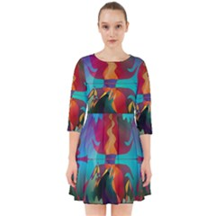 Background Sci Fi Fantasy Colorful Smock Dress