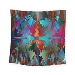 Background Sci Fi Fantasy Colorful Square Tapestry (small) by Pakrebo