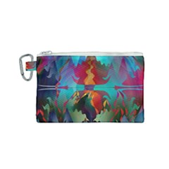 Background Sci Fi Fantasy Colorful Canvas Cosmetic Bag (small)