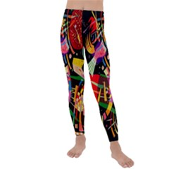 Kandinsky Composition X Kids  Lightweight Velour Leggings by impacteesstreetwearthree