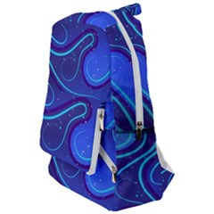 Wavy Abstract Blue Travelers  Backpack