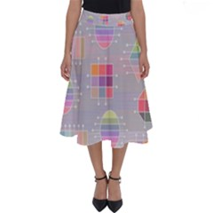 Pastels Shapes Geometric Perfect Length Midi Skirt