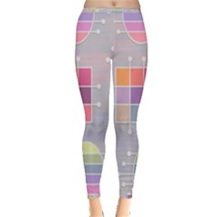 Pastels Shapes Geometric Inside Out Leggings