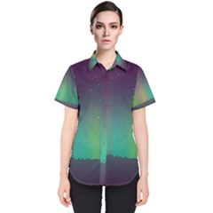 Background Colors Abstract Green Women s Short Sleeve Shirt