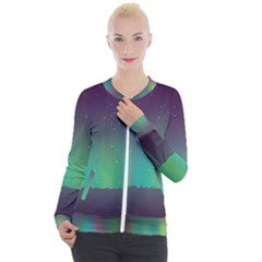 Background Colors Abstract Green Casual Zip Up Jacket