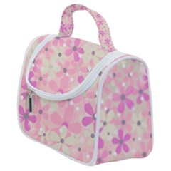 Background Floral Non Seamless Satchel Handbag