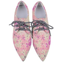 Background Floral Non Seamless Pointed Oxford Shoes