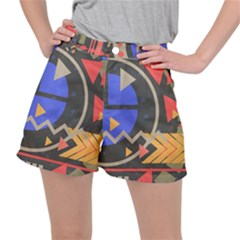 Background Abstract Colors Shapes Ripstop Shorts