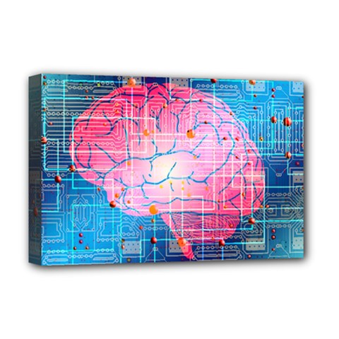 Evolution Artificial Intelligence Deluxe Canvas 18  X 12  (stretched) by Pakrebo