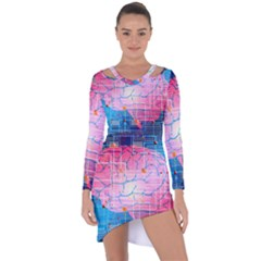 Evolution Artificial Intelligence Asymmetric Cut Out Shift Dress