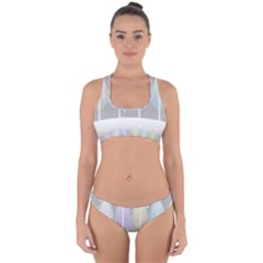 Winter Season Simple Pastels Grey Cross Back Hipster Bikini Set