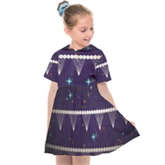 Background Buntings Stylized Kids  Sailor Dress by Pakrebo