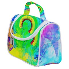 Abstract Color Design Background Satchel Handbag