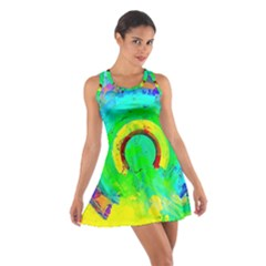 Abstract Color Design Background Cotton Racerback Dress