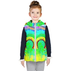 Abstract Color Design Background Kids  Hooded Puffer Vest