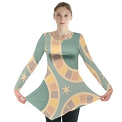Background Pattern Non Seamless Long Sleeve Tunic