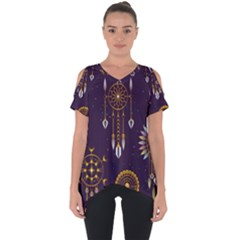 Background Non Seamless Pattern Cut Out Side Drop Tee