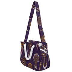 Background Non Seamless Pattern Rope Handles Shoulder Strap Bag
