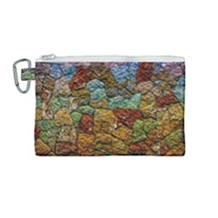 Texture Stone Structure Pattern Canvas Cosmetic Bag (medium)