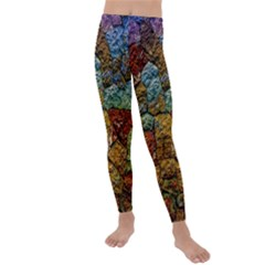 Texture Stone Structure Pattern Kids  Lightweight Velour Leggings