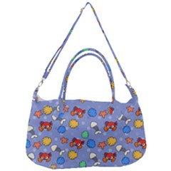 Crabs Pattern Removal Strap Handbag