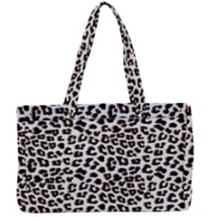 3d Leopard Print Black Brown  Canvas Work Bag