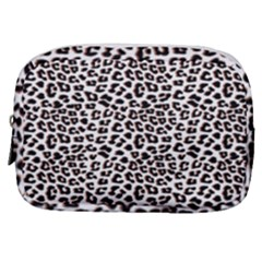 3d Leopard Print Black Brown  Make Up Pouch (small) by LoolyElzayat