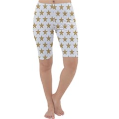 Gold Star Cropped Leggings  by WensdaiAddamns