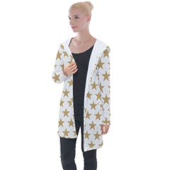 Gold Star Longline Hooded Cardigan by WensdaiAddamns