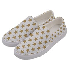 Gold Star Men s Canvas Slip Ons by WensdaiAddamns