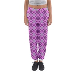 Argyle Large Pink Pattern Women s Jogger Sweatpants by BrightVibesDesign