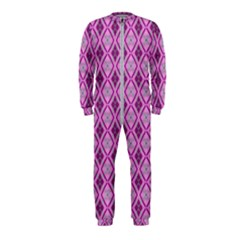 Argyle Large Pink Pattern Onepiece Jumpsuit (kids) by BrightVibesDesign