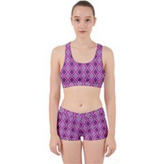Argyle Large Pink Pattern Work It Out Gym Set by BrightVibesDesign