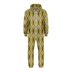 Argyle Large Yellow Pattern Hooded Jumpsuit (kids) by BrightVibesDesign