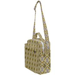 Argyle Large Yellow Pattern Crossbody Day Bag