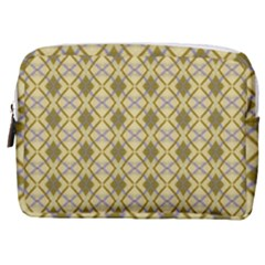 Argyle Large Yellow Pattern Make Up Pouch (medium) by BrightVibesDesign