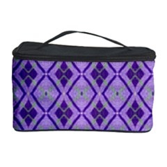 Argyle Large Purple Pattern Cosmetic Storage by BrightVibesDesign