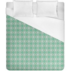Argyle Light Green Pattern Duvet Cover (california King Size) by BrightVibesDesign