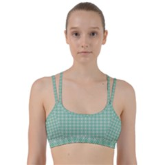 Argyle Light Green Pattern Line Them Up Sports Bra by BrightVibesDesign