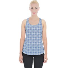 Argyle Light Blue Pattern Piece Up Tank Top by BrightVibesDesign