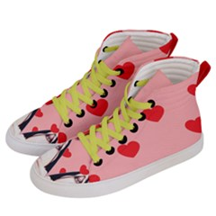 Designed By Revolution Child  l O V E   Edition Men s Hi-top Skate Sneakers by designedbyrevolutionchild