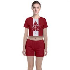 Cool Canada Crop Top And Shorts Co Ord Set by CanadaSouvenirs