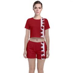 Canada Team Crop Top And Shorts Co Ord Set by CanadaSouvenirs