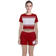 Canada Classic Crop Top And Shorts Co Ord Set by CanadaSouvenirs